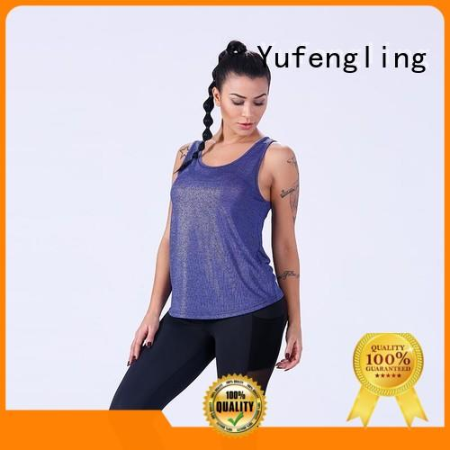 top female tank top for-running for training house Yufengling