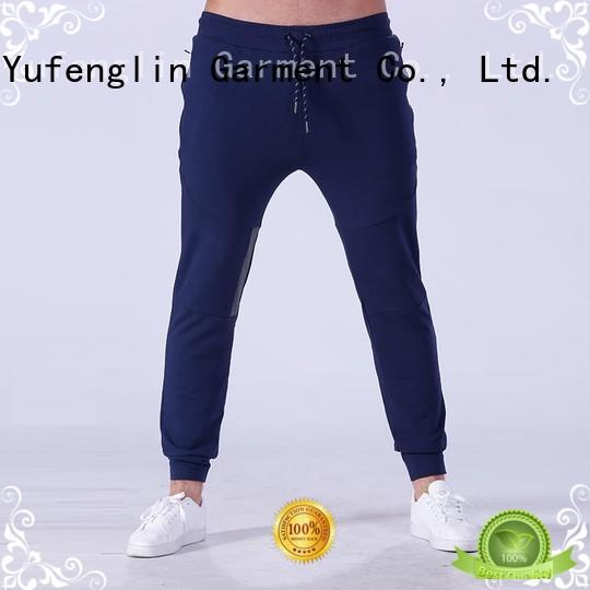 fine- quality men's grey jogger pants fitness sporting-style fitness centre