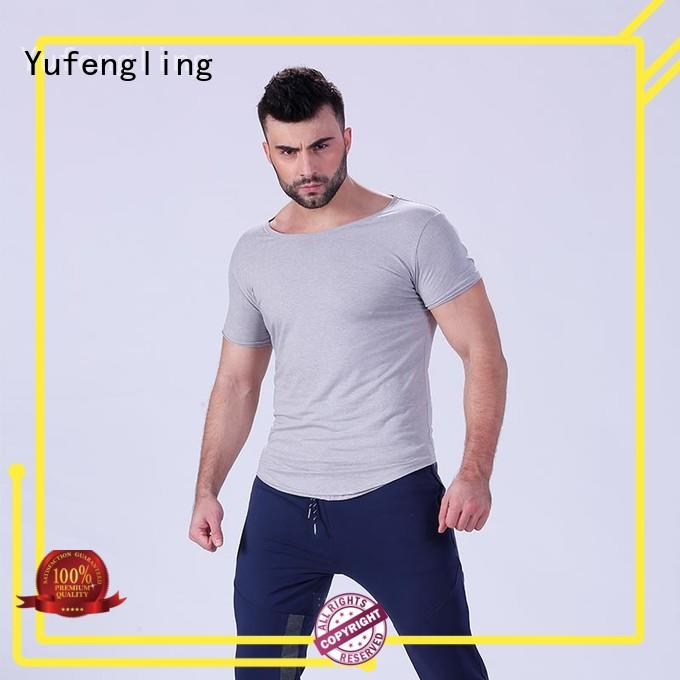 Yufengling clothing t shirt for men  manufacturer in gym