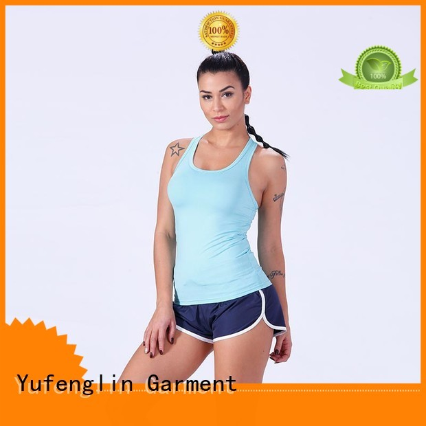 Yufengling female women tank top gym shorts for trainning