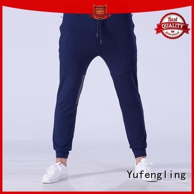 Yufengling new men's grey jogger pants simple designs