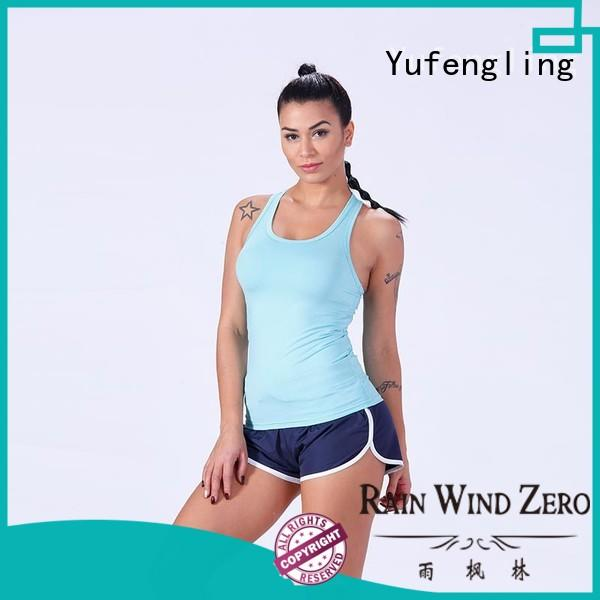 Yufengling sport female tank top gym shorts for trainning