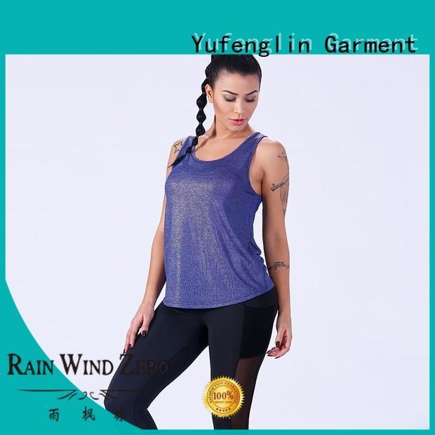 Yufengling plain ladies tank tops gym shorts for trainning