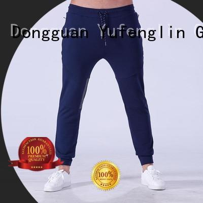 Yufengling fine- quality men's grey jogger pants for-running yoga room