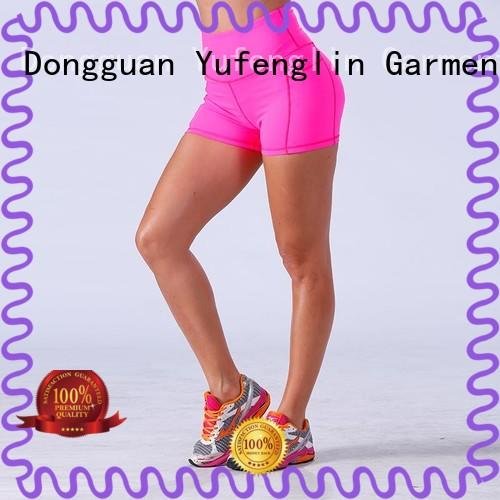 Yufengling lovely ladies gym shorts wholesale colorful