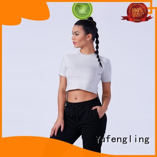 comfortable t shirts for women gym o-neck colorful