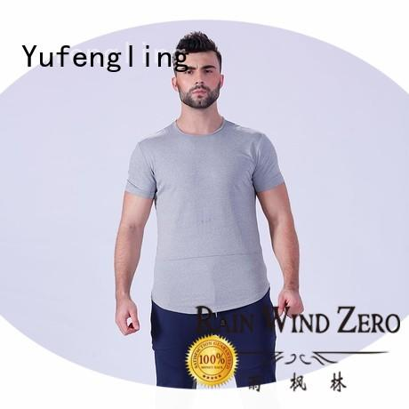 Yufengling bodybuilding plain t shirts for men in different color fitness centre