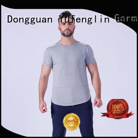 Yufengling durable workout t shirts mens factory gymnasium