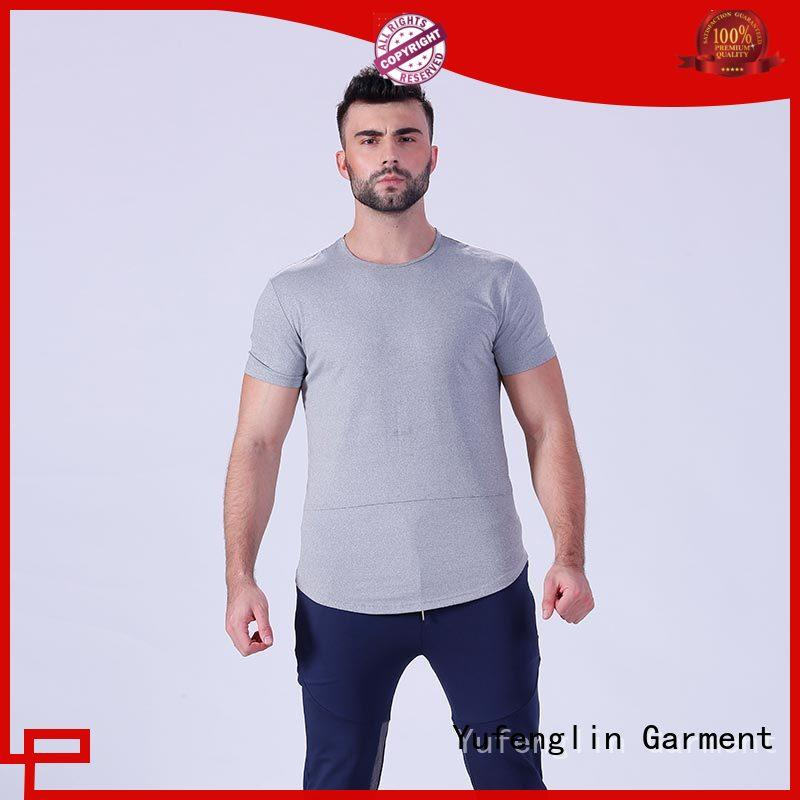 Yufengling tee plain t shirts for men in different color gymnasium
