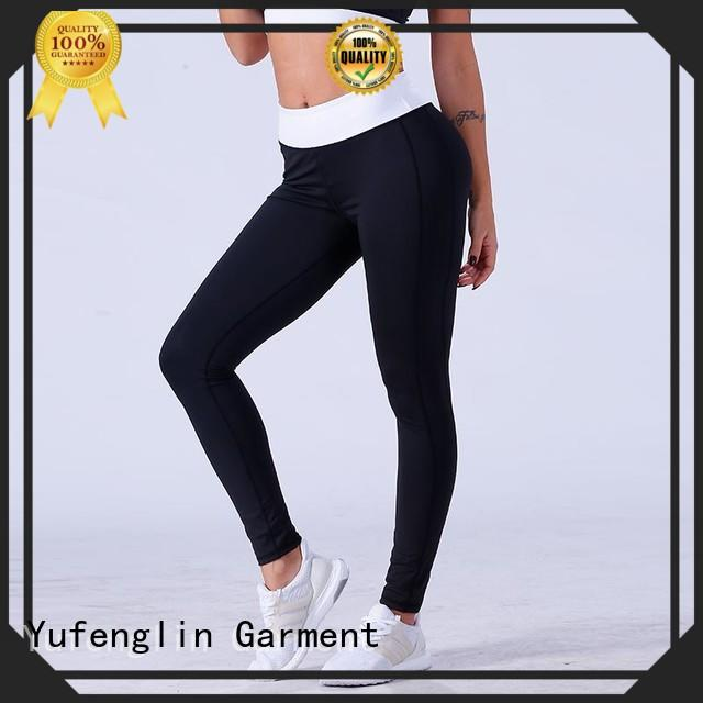 Yufengling nice high waist leggings in different color yoga room