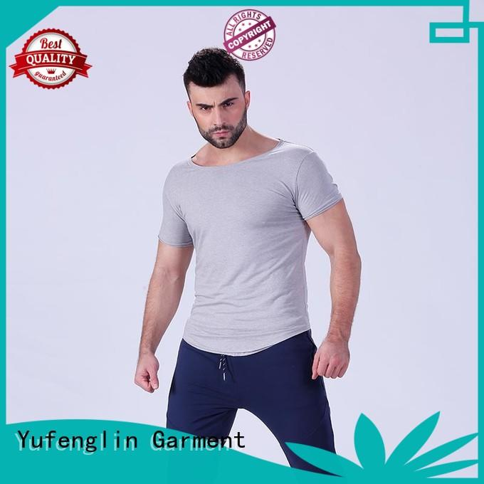 Yufengling durable plain t shirts for men factory gymnasium