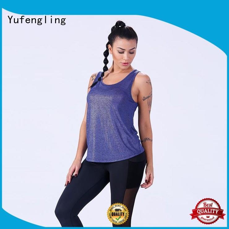 Yufengling gym ladies singlet tops yoga wear exercise room