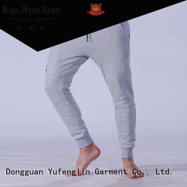 reliable men's grey jogger pants fit nylon fabric for sporting