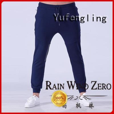 Yufengling durable mens jogger pants nylon fabric for training house