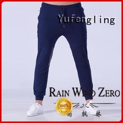 Yufengling durable mens jogger pants nylon fabric for training house