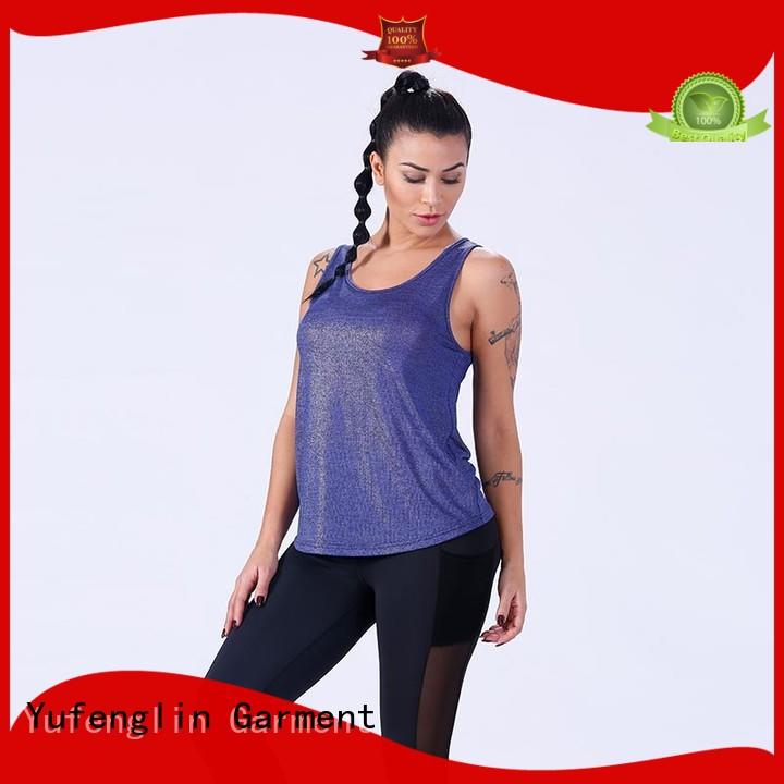 Yufengling quality ladies tank tops for-running suitable style
