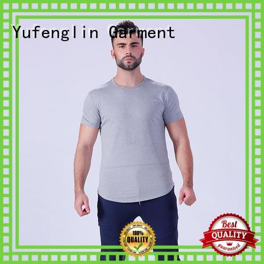 Yufengling new-arrival fitness t shirt wholesale in gym