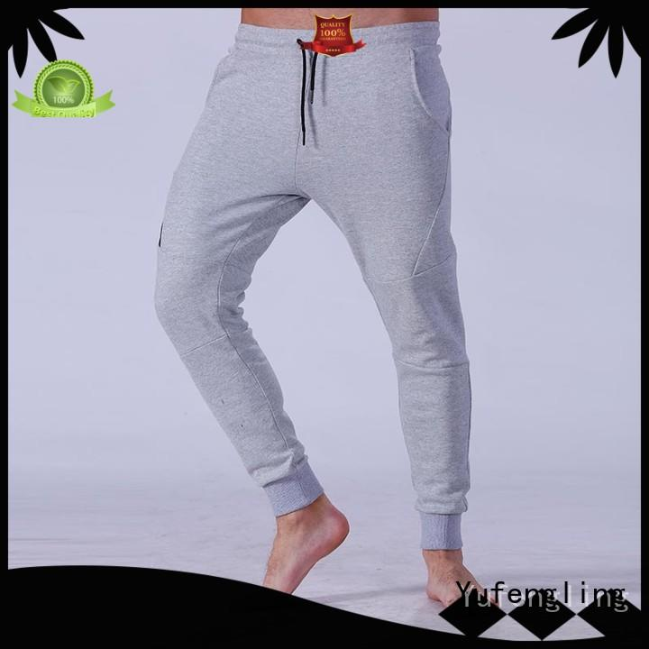 Yufengling male jogger pants gym shorts fitness centre