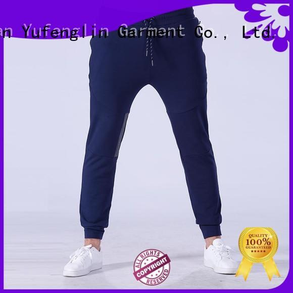 Yufengling mens jogger pants nylon fabric in gym