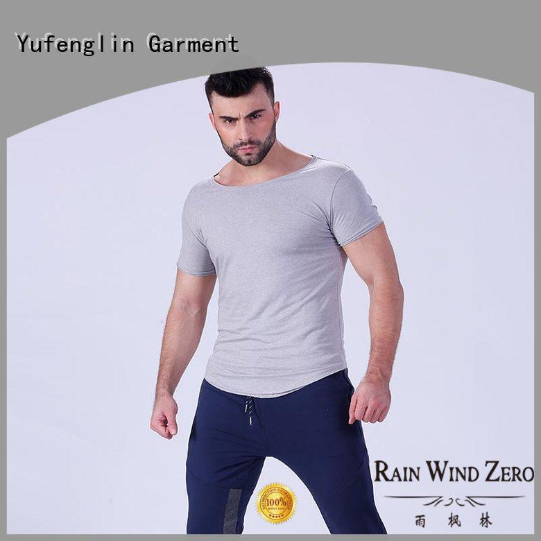 Yufengling new-arrival fitness t shirt manufacturer for training house