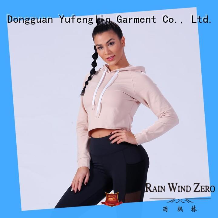 Yufengling zip ladies hoodies wholesale for trainning