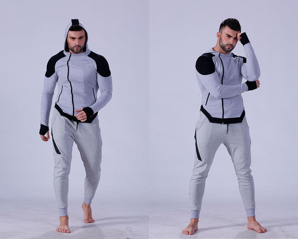 hot-sale mens hoodie zip tranning-wear for training house-1