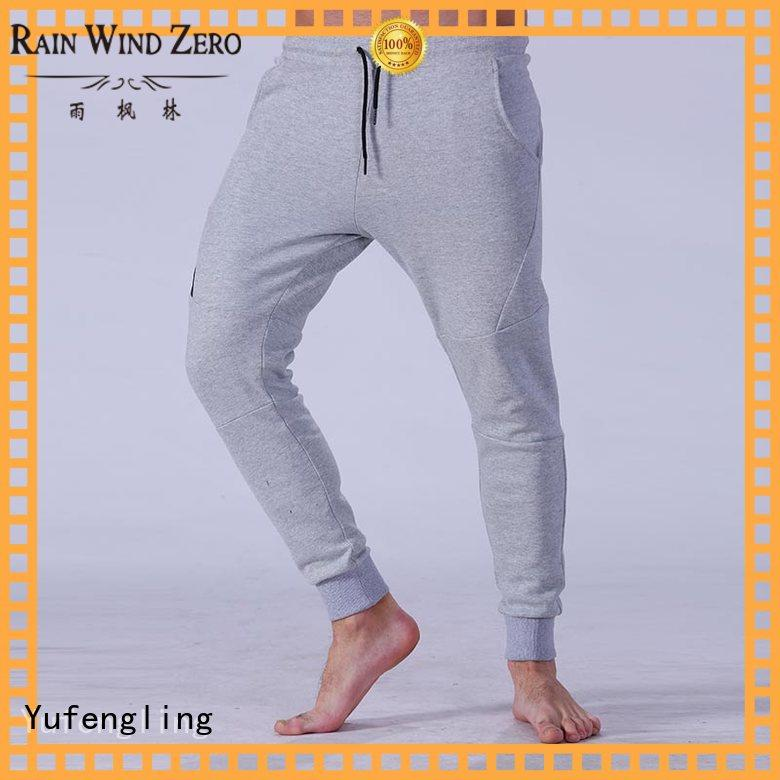 Yufengling joggers men's grey jogger pants nylon fabric for sports