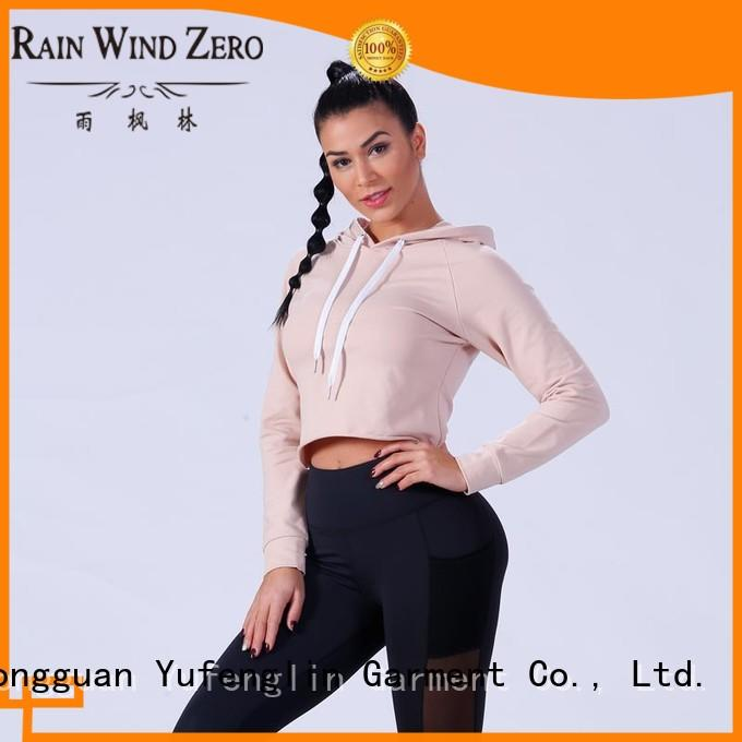 Yufengling comfortable gym hoodies womens sports-wear