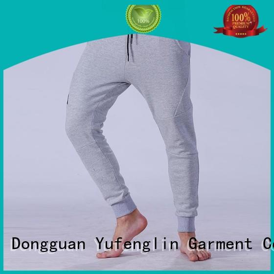 Yufengling awesome men's grey jogger pants fitness centre