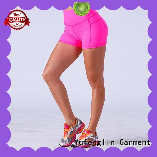 Yufengling comfortable womens sports shorts wholesale suitable style
