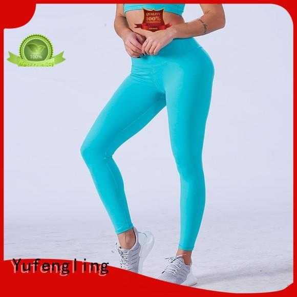 Yufengling women seamless leggings pati-color