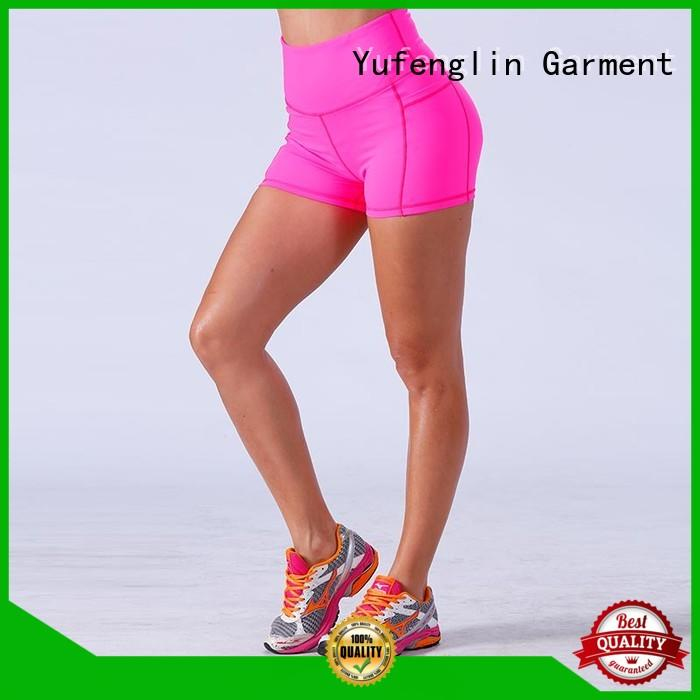 Yufengling athletic ladies gym shorts in different color for training house