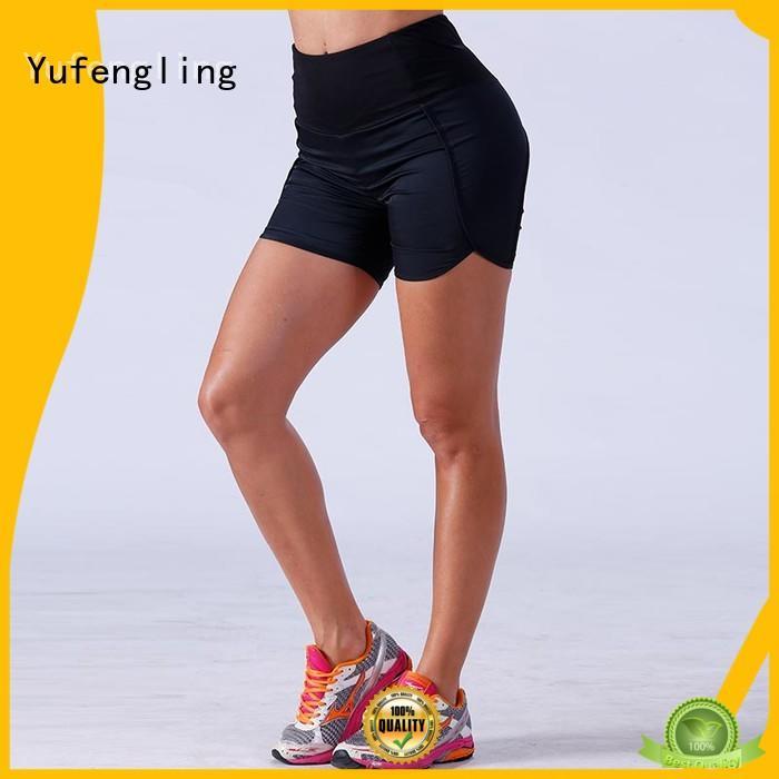 Yufengling fitness ladies gym shorts wholesale