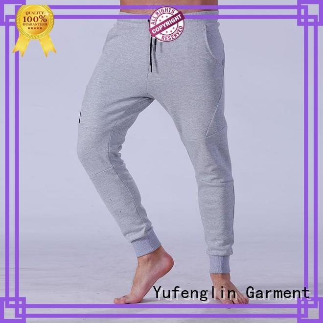 Yufengling durable mens joggers wrinkle free yoga room