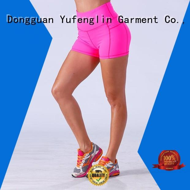 magnificent girls gym shorts in different color for training house Yufengling