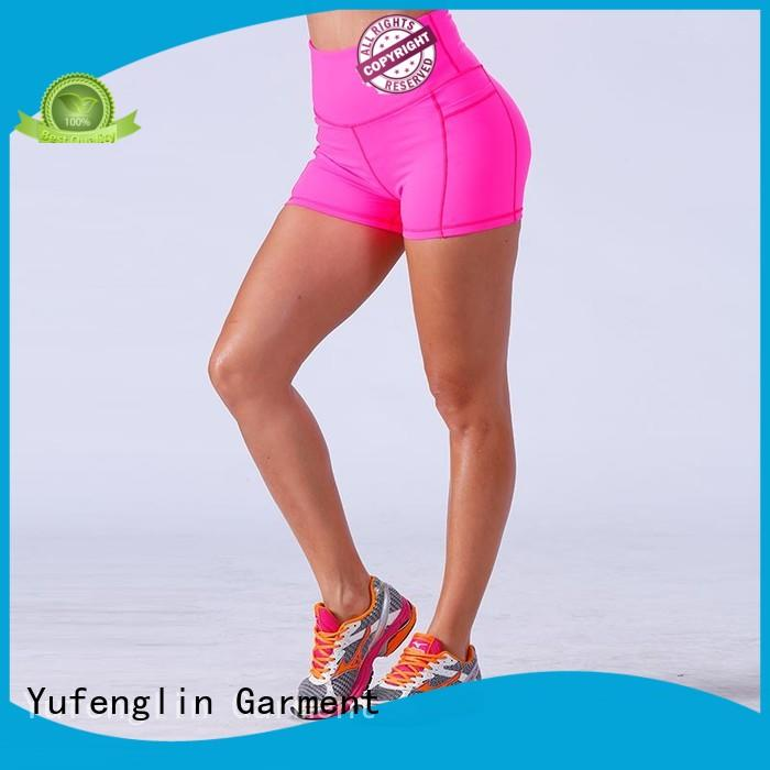Yufengling bodybuilding ladies gym shorts fitting-style yoga room