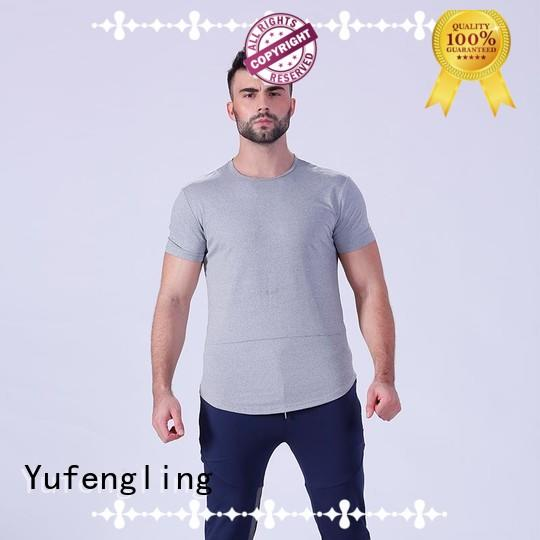 Yufengling fitness plain t shirts for men in different color in gym
