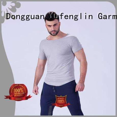 plain t shirts for men workout in gym Yufengling