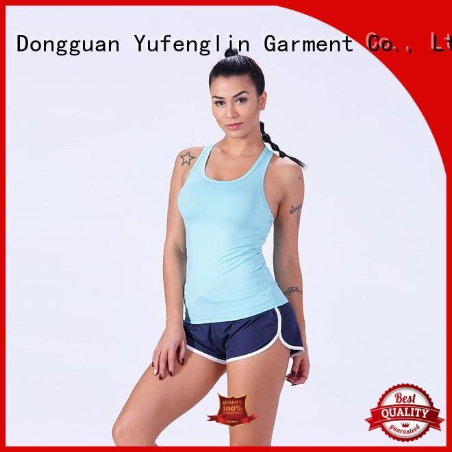 Yufengling plain women tank top gym shorts for trainning