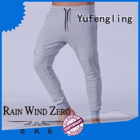 Yufengling mens men's grey jogger pants wrinkle free yoga room