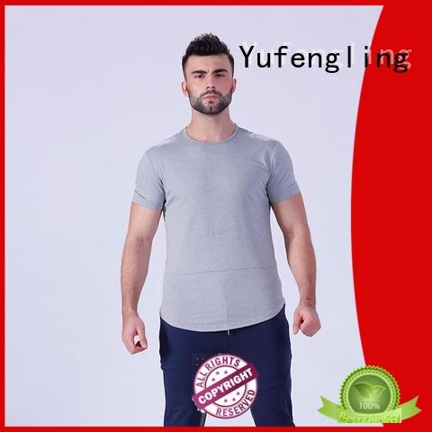 tee gym t shirt muscle yoga room Yufengling