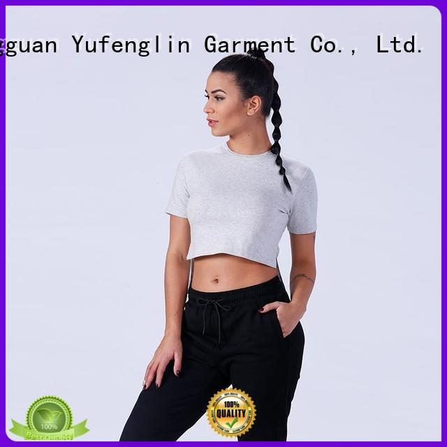 Yufengling comfortable customize t shirts fitting-style exercise room