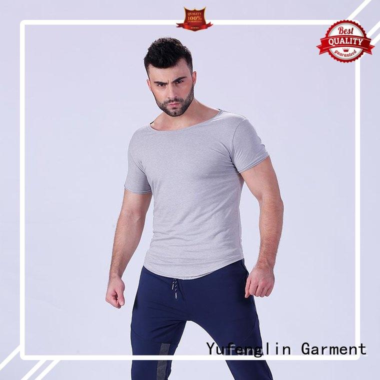 Yufengling newly plain t shirts for men factory fitness centre