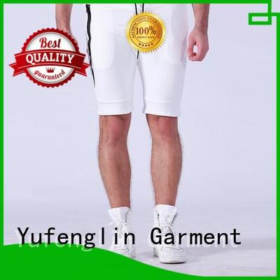 Yufengling plain gym shorts men o-neck