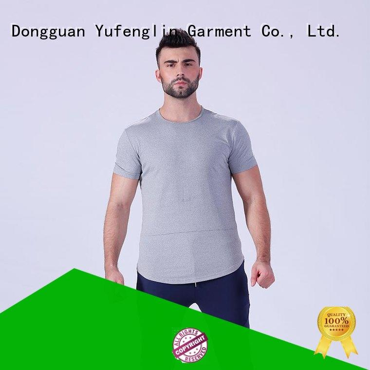 Yufengling new plain t shirts for men supplier yoga room