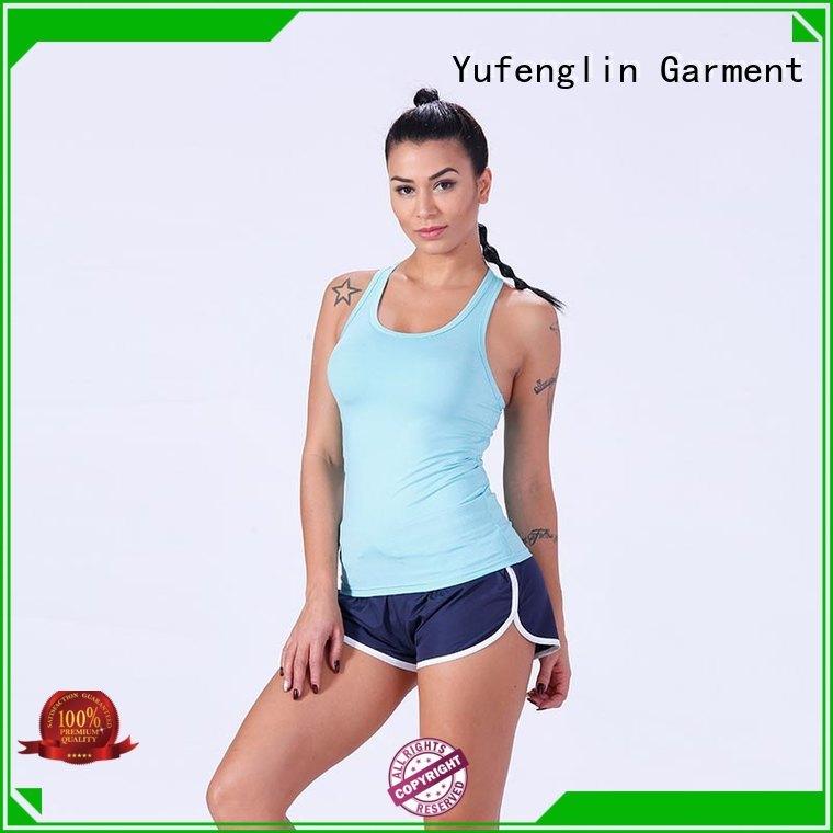 sport ladies tank tops pati-color yogawear