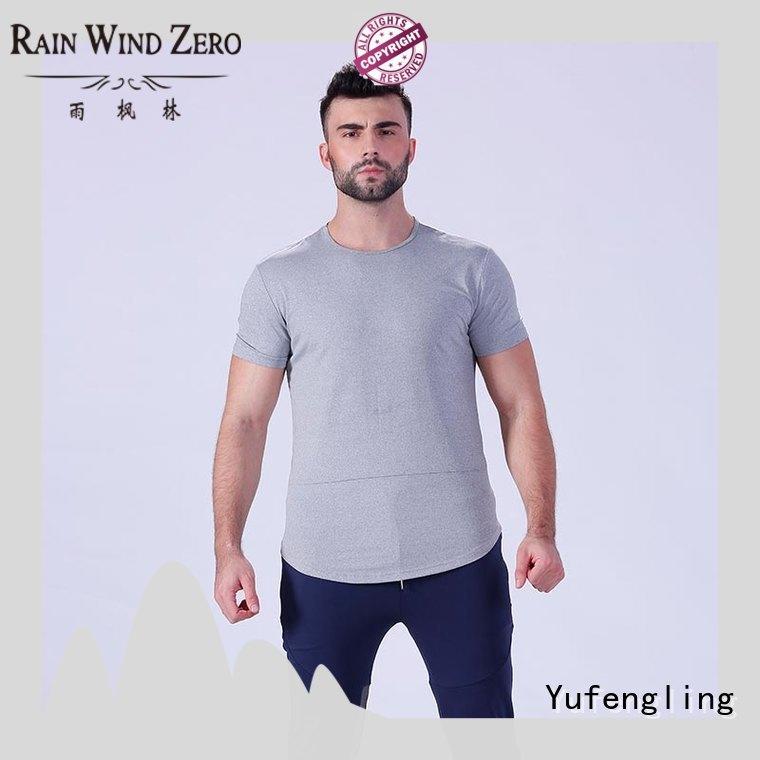 new men's fashion t shirts o-neck gymnasium Yufengling