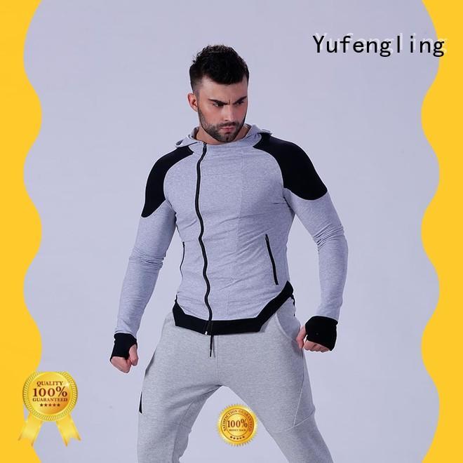 Yufengling mens gym hoodie tranning-wear yoga room
