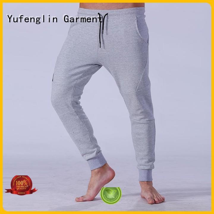 Yufengling durable mens slim jogger pants for-running in gym