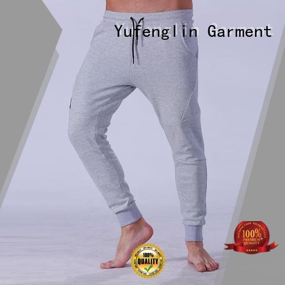 Yufengling solid mens joggers for track  for sporting